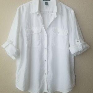 🍁Lauren Ralph Lauren white top